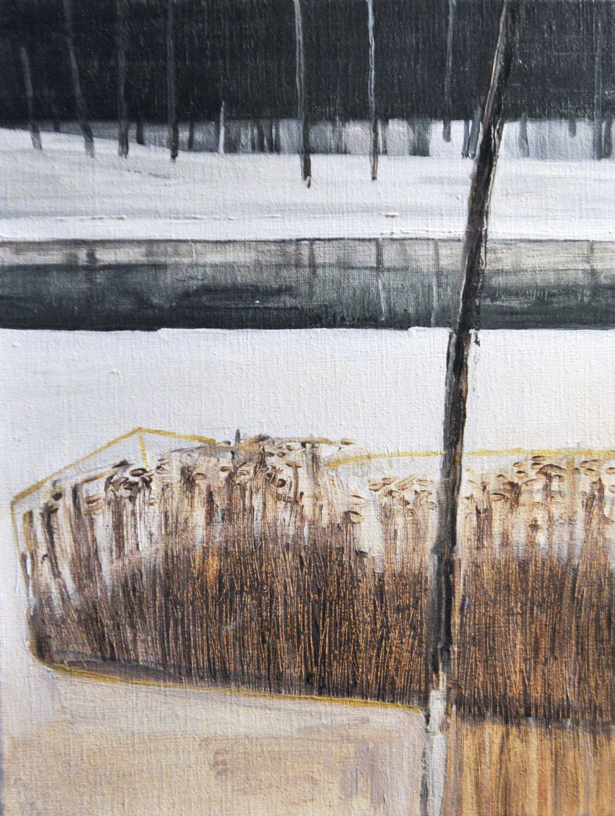 Riverside winter 3 (a), 2016. Oil, canvas. 40 x 30 cm