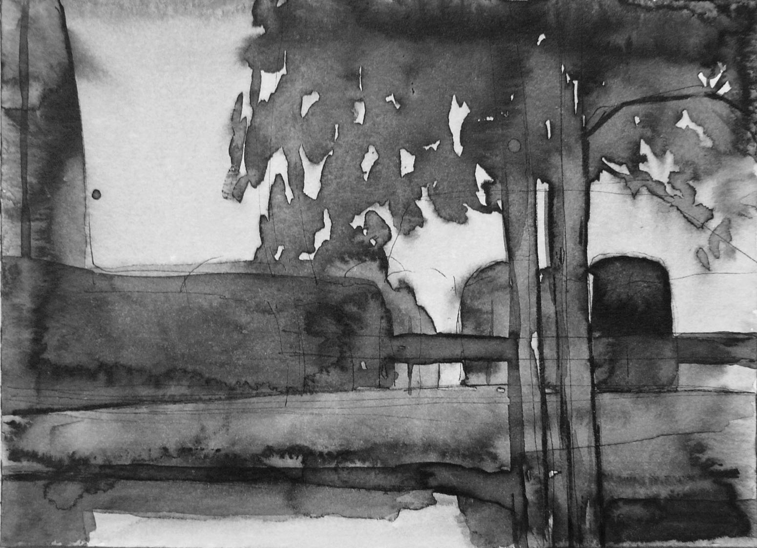 B&W – horizontal 1-6. Ink, paper. 10x15cm. 2014
