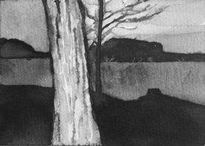 B&W – horizontal 3-6. Ink, paper. 10x15cm. 2015