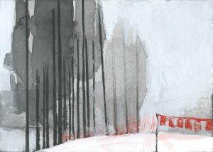 B&W – horizontal 6-6. Ink, paper. 10x15cm. 2015
