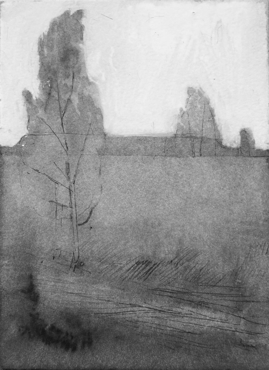 B&W vertical 2-23. Ink, paper. 15x10cm. 2014