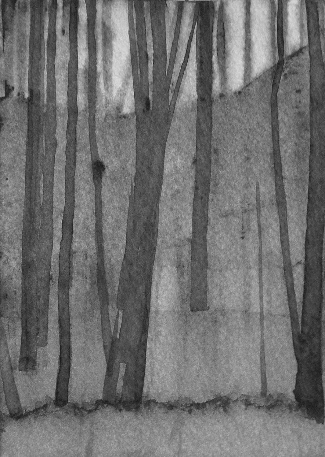 B&W vertical 20-23. Ink, paper. 15x10cm. 2015