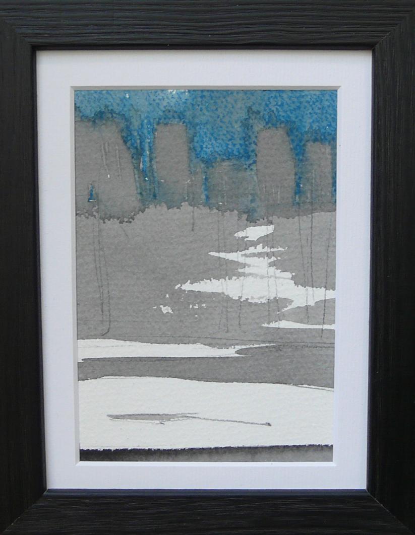 Miniatures 1. Ink, oil, pastel, paper. 15x10cm. 2013
