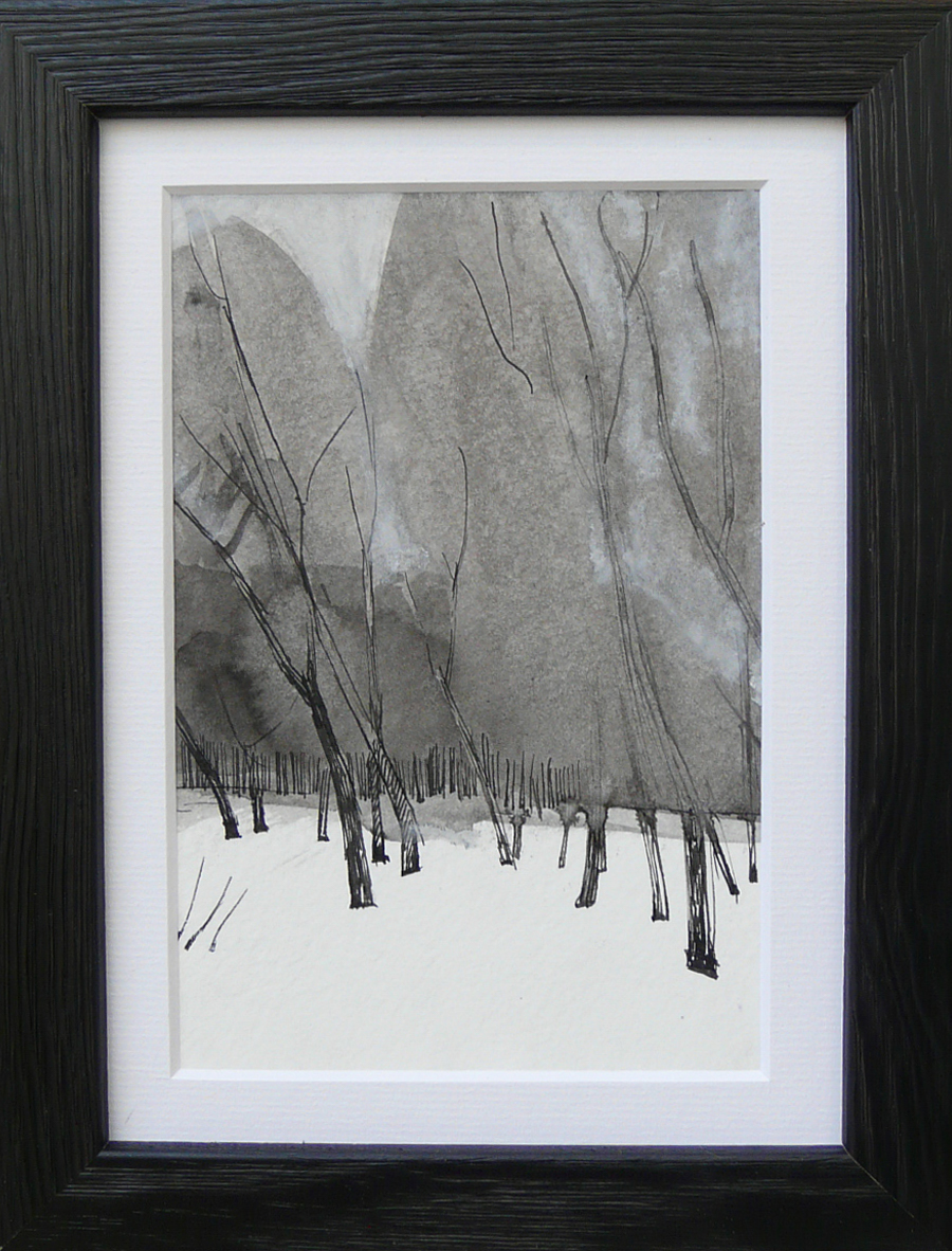 Miniatures 3. Ink, oil, pastel, paper. 15x10cm. 2013