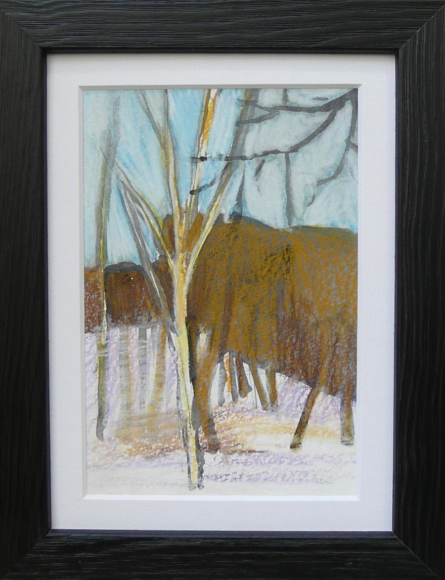 Miniatures 5. Ink, oil, pastel, paper. 15x10cm. 2013