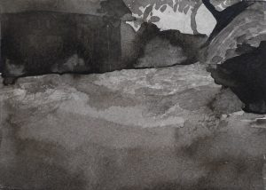 Moments 13-13. Ink, paper. 10x15cm. 2012