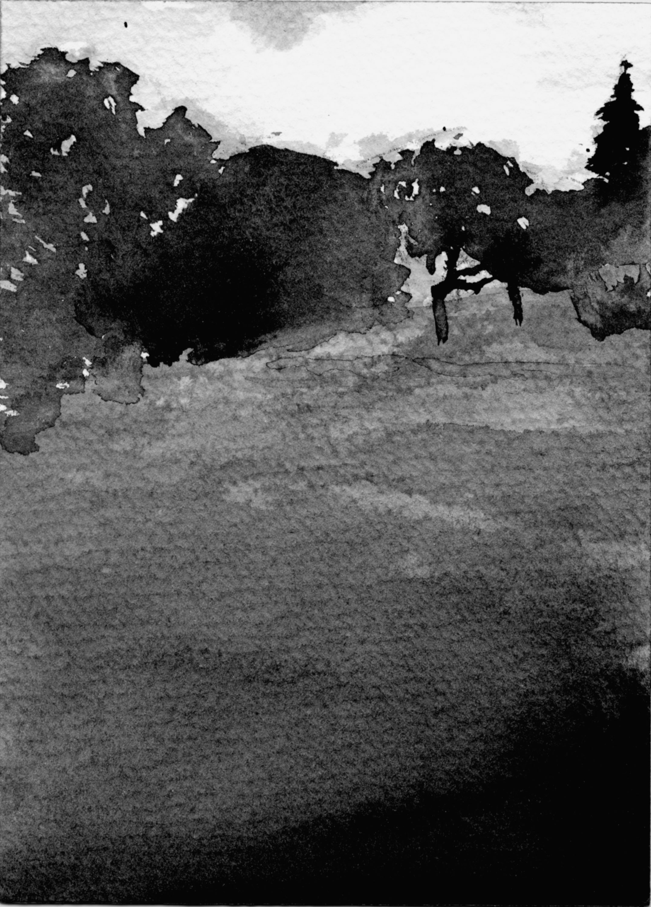 Moments 6-13. Ink, paper. 15x10cm. 2012