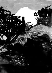 Moments 7-13. Ink, paper. 15x10cm. 2012