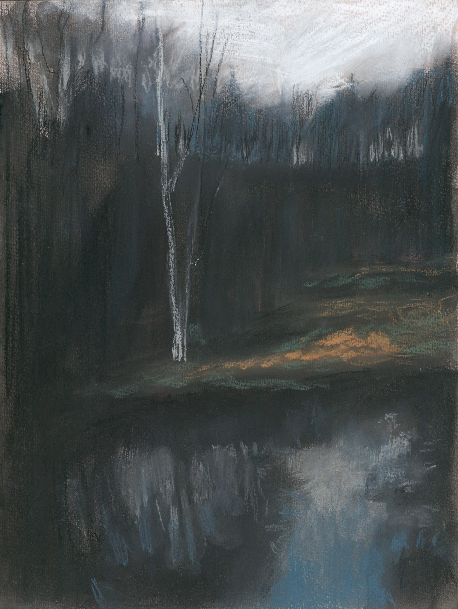 Winterscape 1-17. Ink, pastel, paper. 32x24cm. 2012