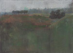 Winterscape 10-17. Ink, pastel, paper. 31x41cm. 2012