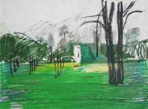 Winterscape 13-17. Ink, oil, pastel. 24x32cm. 2012
