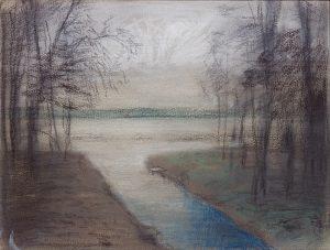 Winterscape 3-17. Ink, pastel, paper. 24x32cm. 2012