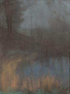Winterscape 5-17. Ink, pastel, paper. 32x24cm. 2012