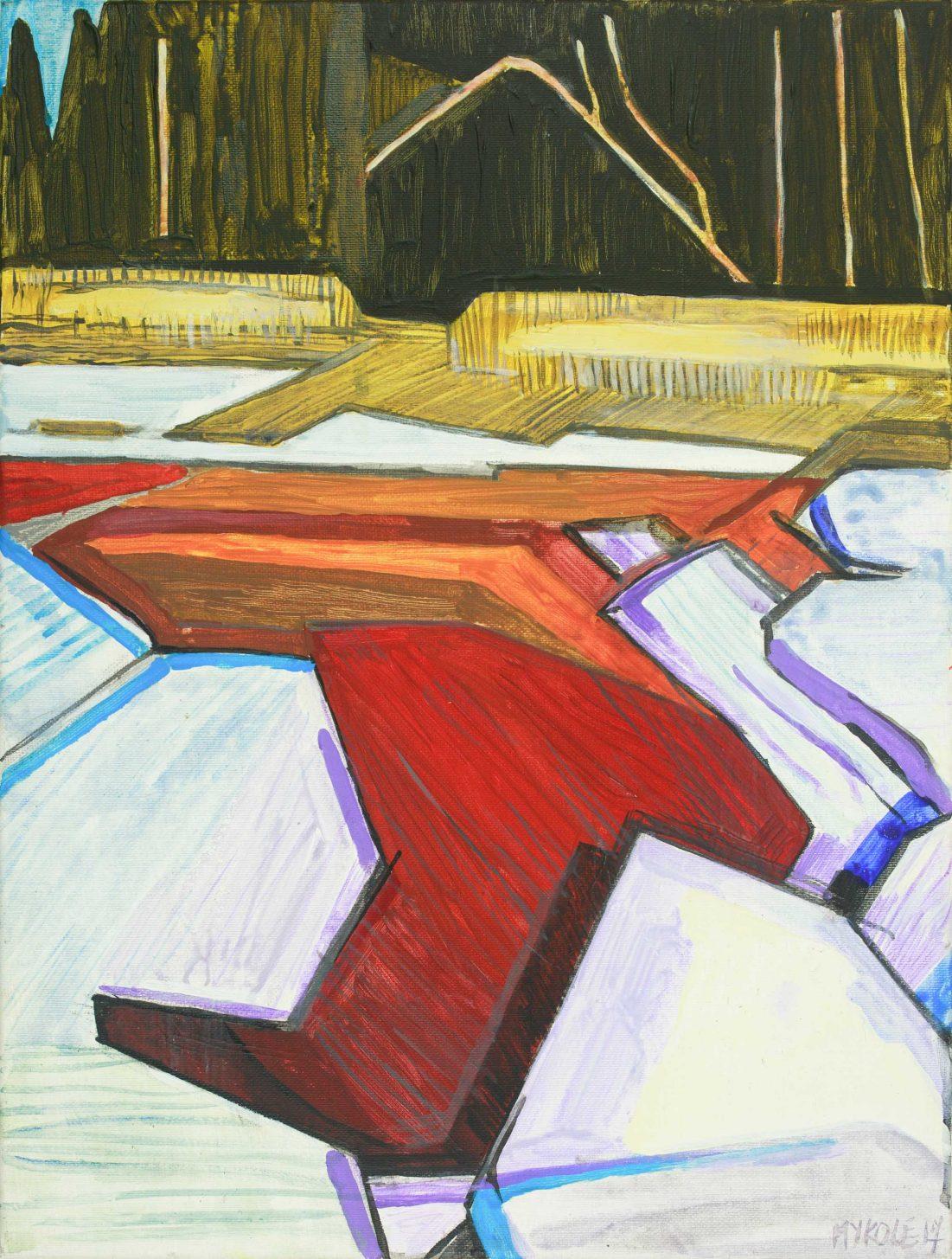 Saari 14-14. Acrylic, canvas. 40x30cm. 2017
