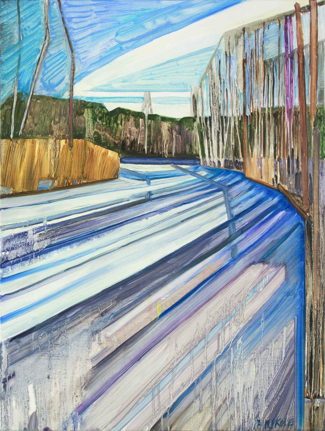 Saari 7-14. Oil, canvas. 80x60cm. 2017
