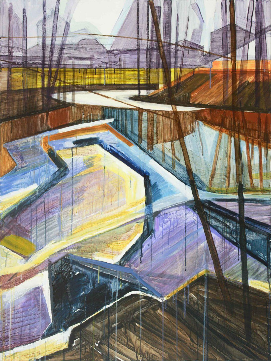 Saari 9-14. Acrylic, canvas. 120x90cm. 2017