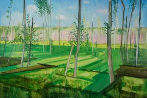 Marsh 3. Acrylic, canvas. 120x180cm. 2017