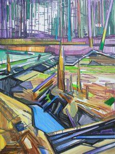 Marsh 6. Acrylic, canvas. 120x90cm. 2017 – Copy