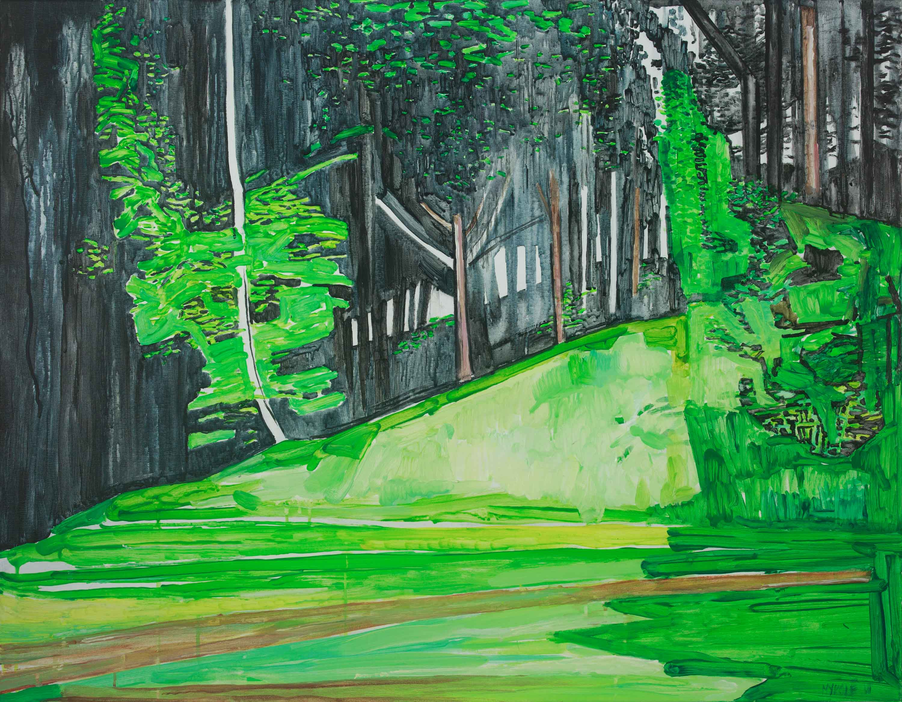 Green hill 1. Acrylic, canvas. 70x90cm. 2018