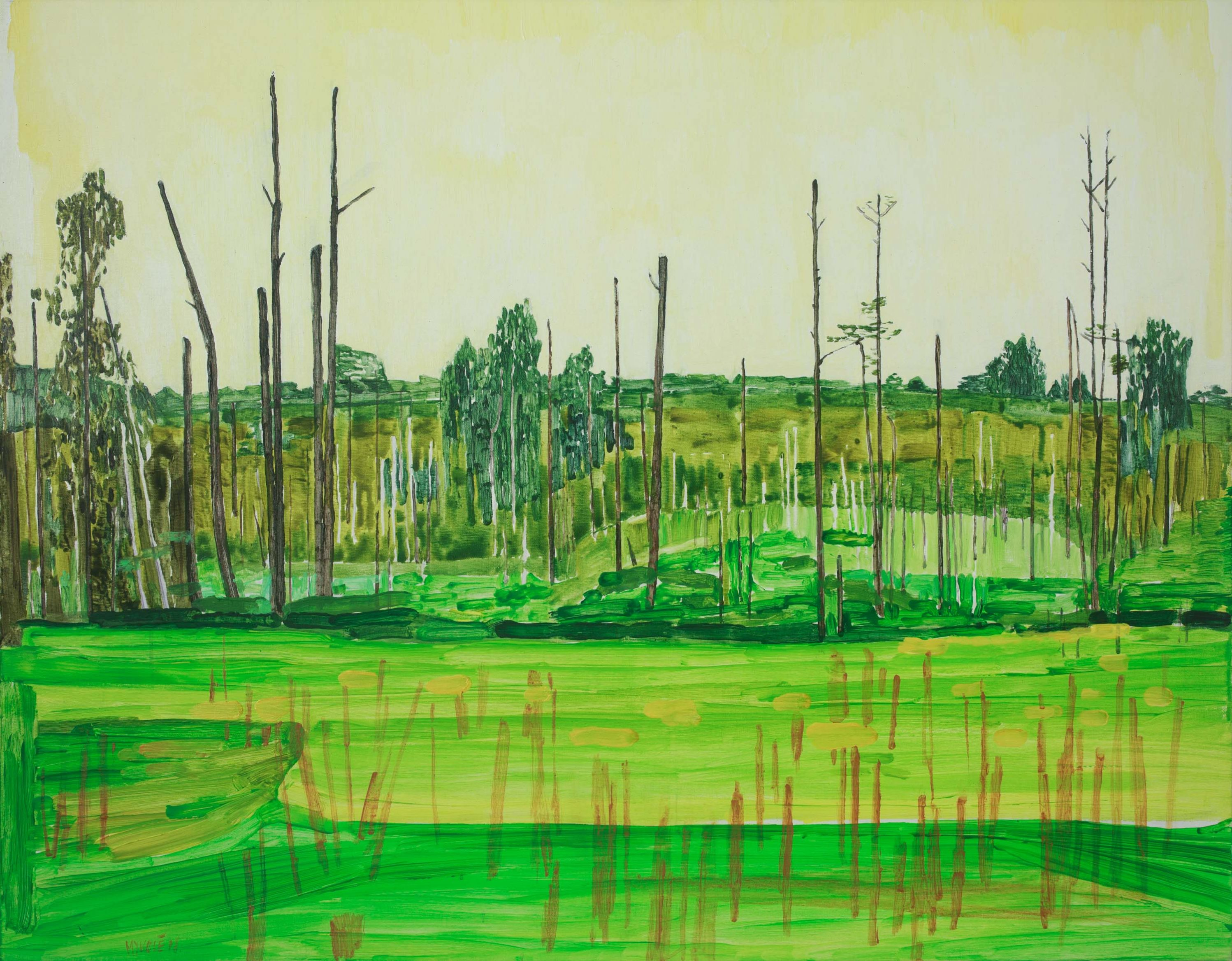 Marsh 11. Acrylic, canvas. 70x90cm. 2018