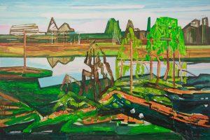 Marsh 15. Acrylic, canvas. 100x150cm. 2018