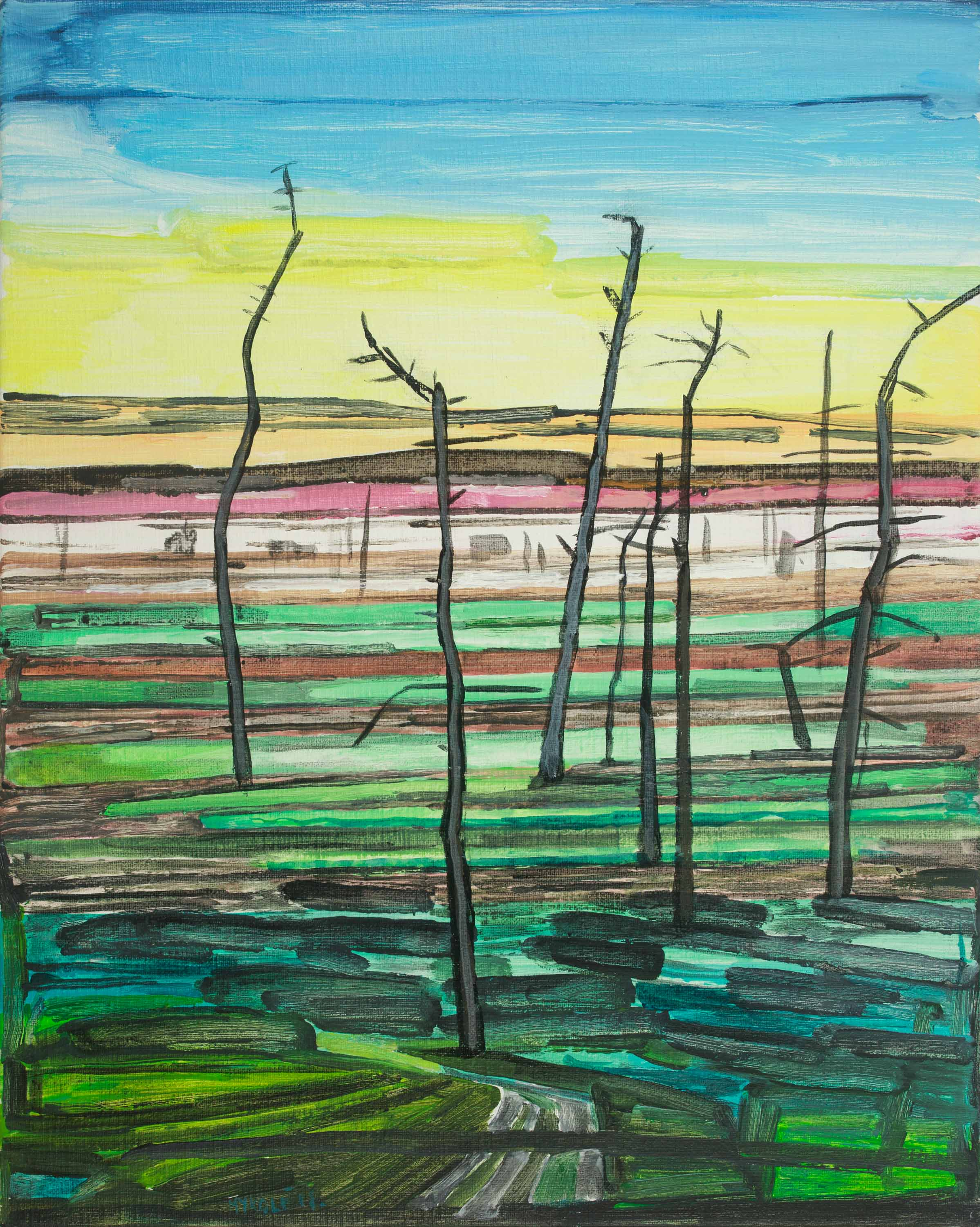 Marsh 18. Acrylic, canvas. 50x40cm. 2018