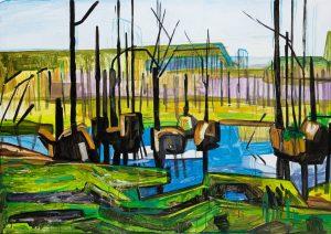Marsh 21. 2019. Acrylic, canvas 114×162 cm