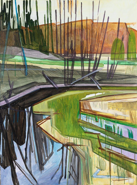 Spring 6. 2020. Acrylic, canvas. 90×120 cm