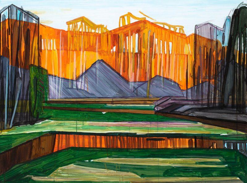 Spring 7. 2020. Acrylic, canvas. 90×120 cm
