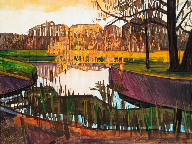 Spring 8. 2020. Acrylic, canvas. 90×120 cm