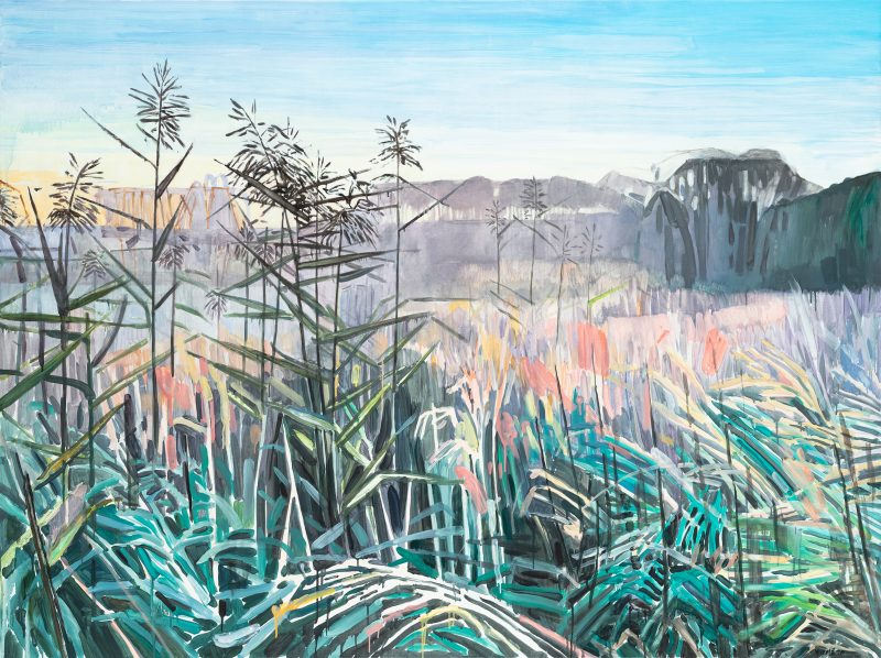 Meadows 1, 2021. Oil, canvas. 146×195 cm