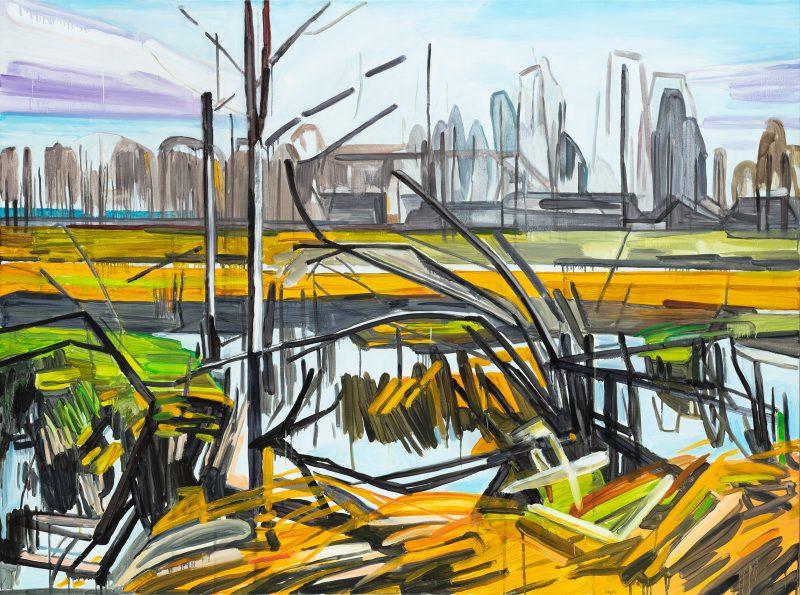 Meadows 4, 2021. Oil, canvas. 146×195 cm